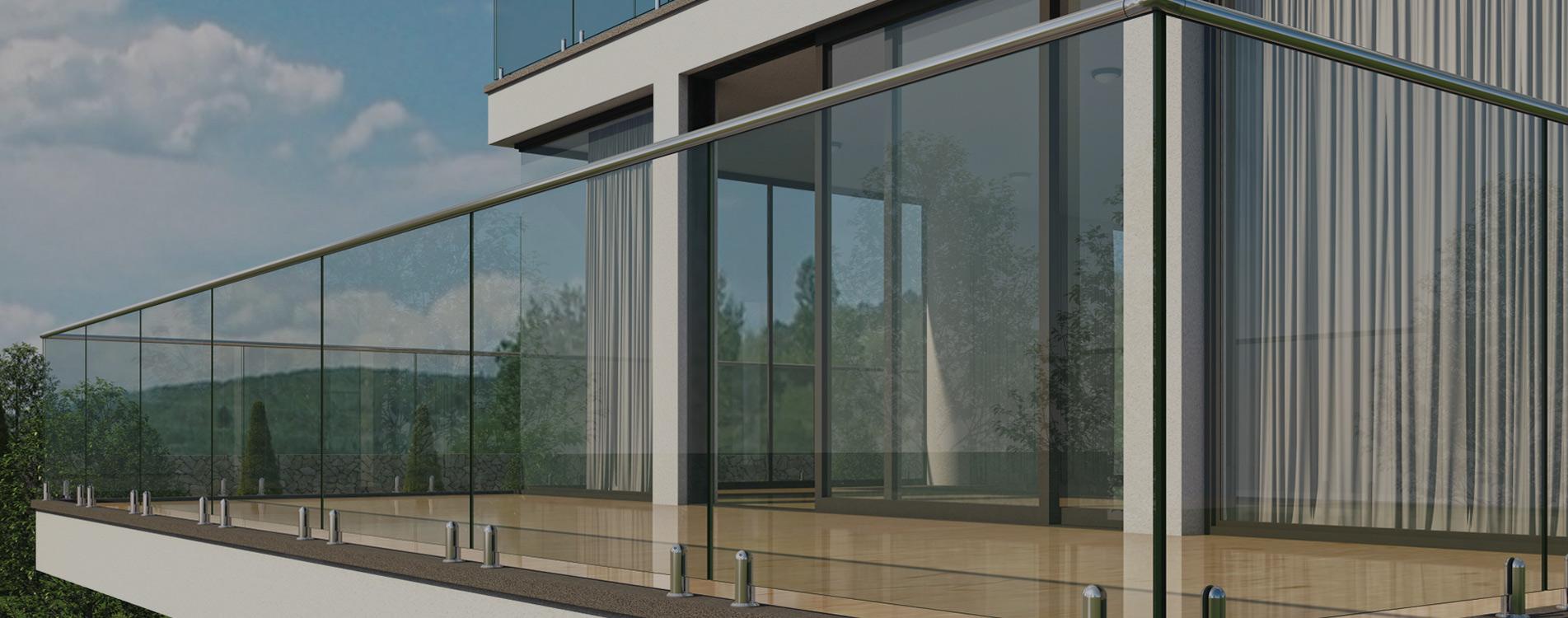 Алуминиеви парапети със стъкло от Мурати Стил